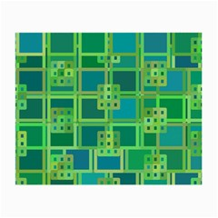 Green Abstract Geometric Small Glasses Cloth by BangZart