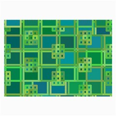 Green Abstract Geometric Large Glasses Cloth (2 Side) by BangZart