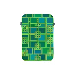Green Abstract Geometric Apple Ipad Mini Protective Soft Cases by BangZart