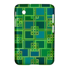 Green Abstract Geometric Samsung Galaxy Tab 2 (7 ) P3100 Hardshell Case  by BangZart