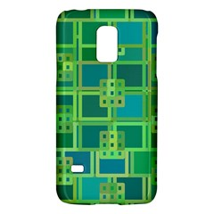 Green Abstract Geometric Galaxy S5 Mini by BangZart