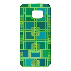Green Abstract Geometric Samsung Galaxy S7 Edge Hardshell Case