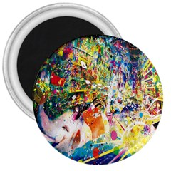Multicolor Anime Colors Colorful 3  Magnets by BangZart