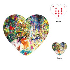 Multicolor Anime Colors Colorful Playing Cards (heart)  by BangZart