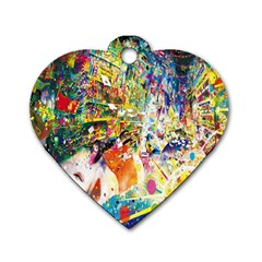 Multicolor Anime Colors Colorful Dog Tag Heart (one Side) by BangZart