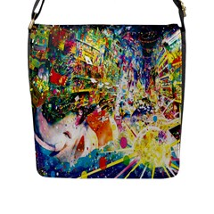 Multicolor Anime Colors Colorful Flap Messenger Bag (l)  by BangZart