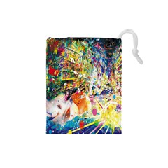 Multicolor Anime Colors Colorful Drawstring Pouches (small)