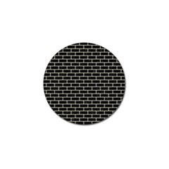 Brick1 Black Marble & Beige Linen Golf Ball Marker by trendistuff