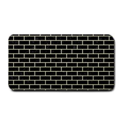 Brick1 Black Marble & Beige Linen Medium Bar Mats by trendistuff
