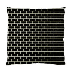 Brick1 Black Marble & Beige Linen Standard Cushion Case (one Side) by trendistuff
