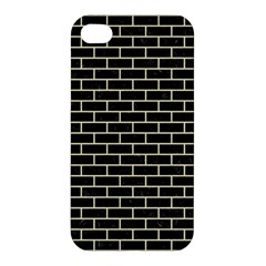 Brick1 Black Marble & Beige Linen Apple Iphone 4/4s Hardshell Case by trendistuff