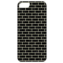 Brick1 Black Marble & Beige Linen Apple Iphone 5 Classic Hardshell Case by trendistuff