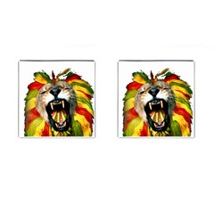 Reggae Lion Cufflinks (square) by BangZart