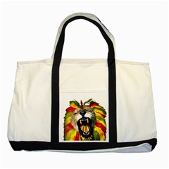 Reggae Lion Two Tone Tote Bag by BangZart