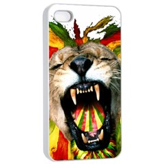 Reggae Lion Apple Iphone 4/4s Seamless Case (white) by BangZart