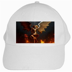 Angels Wings Curious Hell Heaven White Cap by BangZart