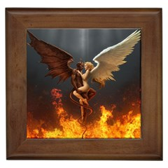 Angels Wings Curious Hell Heaven Framed Tiles by BangZart