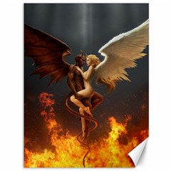 Angels Wings Curious Hell Heaven Canvas 36  X 48   by BangZart