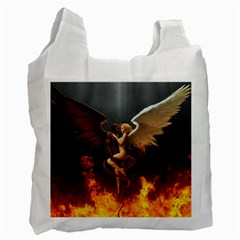 Angels Wings Curious Hell Heaven Recycle Bag (two Side)  by BangZart
