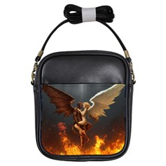 Angels Wings Curious Hell Heaven Girls Sling Bags