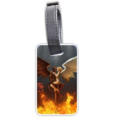 Angels Wings Curious Hell Heaven Luggage Tags (one Side)  by BangZart