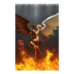 Angels Wings Curious Hell Heaven Shower Curtain 48  X 72  (small)