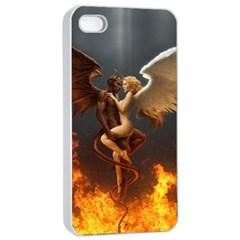Angels Wings Curious Hell Heaven Apple Iphone 4/4s Seamless Case (white) by BangZart