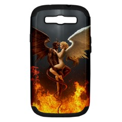 Angels Wings Curious Hell Heaven Samsung Galaxy S Iii Hardshell Case (pc+silicone) by BangZart