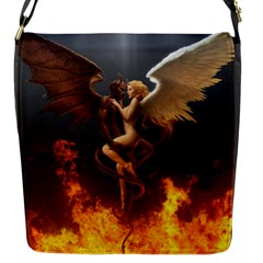Angels Wings Curious Hell Heaven Flap Messenger Bag (s) by BangZart