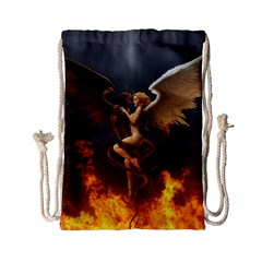 Angels Wings Curious Hell Heaven Drawstring Bag (small)