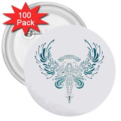 Angel Tribal Art 3  Buttons (100 Pack)  by BangZart