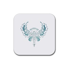Angel Tribal Art Rubber Coaster (square)  by BangZart