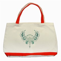 Angel Tribal Art Classic Tote Bag (red) by BangZart