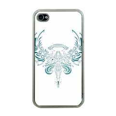 Angel Tribal Art Apple Iphone 4 Case (clear)