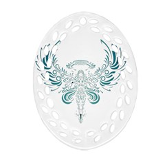 Angel Tribal Art Oval Filigree Ornament (two Sides) by BangZart