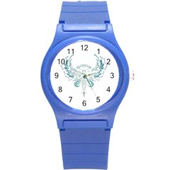 Angel Tribal Art Round Plastic Sport Watch (s)