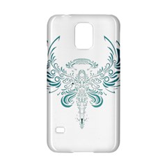 Angel Tribal Art Samsung Galaxy S5 Hardshell Case  by BangZart