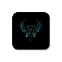 Angel Tribal Art Rubber Square Coaster (4 Pack)  by BangZart