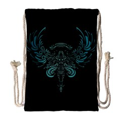 Angel Tribal Art Drawstring Bag (large) by BangZart