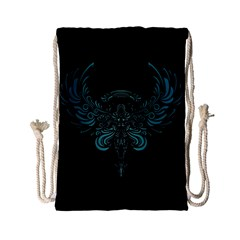 Angel Tribal Art Drawstring Bag (small) by BangZart