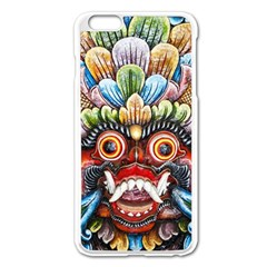 Wood Sculpture Bali Logo Apple Iphone 6 Plus/6s Plus Enamel White Case by BangZart