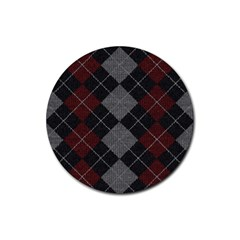 Wool Texture With Great Pattern Rubber Coaster (round)  by BangZart