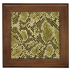 Yellow Snake Skin Pattern Framed Tiles by BangZart