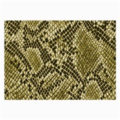 Yellow Snake Skin Pattern Large Glasses Cloth