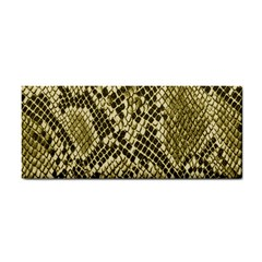 Yellow Snake Skin Pattern Cosmetic Storage Cases by BangZart