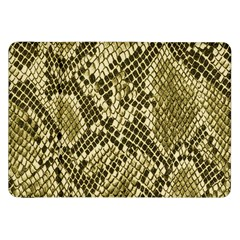 Yellow Snake Skin Pattern Samsung Galaxy Tab 8 9  P7300 Flip Case by BangZart
