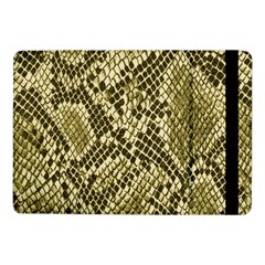 Yellow Snake Skin Pattern Samsung Galaxy Tab Pro 10 1  Flip Case by BangZart