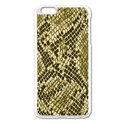 Yellow Snake Skin Pattern Apple Iphone 6 Plus/6s Plus Enamel White Case
