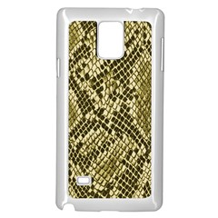 Yellow Snake Skin Pattern Samsung Galaxy Note 4 Case (white)