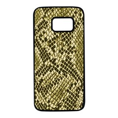 Yellow Snake Skin Pattern Samsung Galaxy S7 Black Seamless Case
